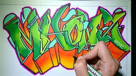 Draw graffiti creator includes different styles of graffiti for everyone. Drawing Graffiti on paper - Maonz - YouTube | Graffiti ...