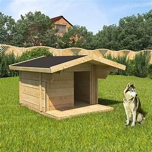 Hundehütte Mit Terrasse : xxl hundeh tte hundehaus 170x90x140cm vordach hundezwinger massiv echtholz h tte ebay ~ Watch28wear.com Haus und Dekorationen