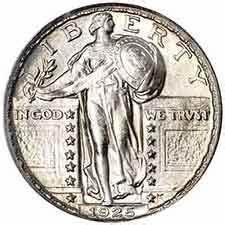 1925 P Standing Liberty Quarter Liberty Silver Quarters