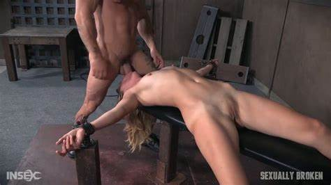 Tied Up Slave Getting Her Throat Fucking