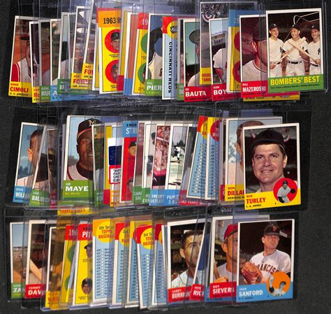 Check spelling or type a new query. Lot Detail - Lot of 60+ 1963 Topps Baseball Cards w ...