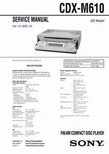 Sony Cdx M610
