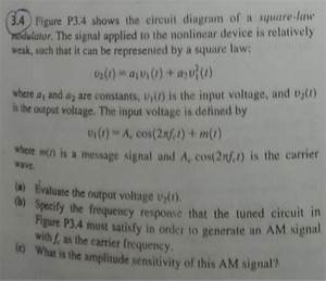 Solved  Figure P3 4 Shows The Circuit Diagram Of A Square