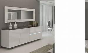 Miroir Rectangulaire Mural : miroir mural blanc laqu design lizea ~ Teatrodelosmanantiales.com Idées de Décoration