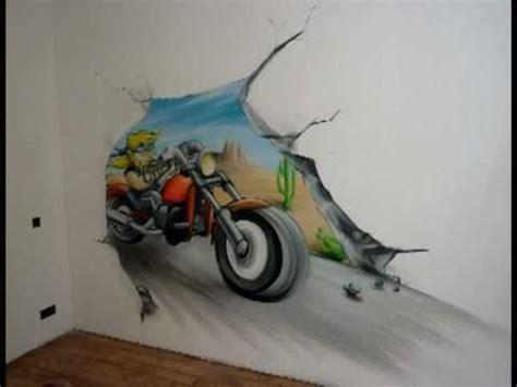 aérosoleil graff décoration fresque murale quot moto biker