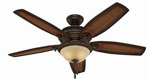 Hunter, 54, U0026quot, Claymore, Brushed, Cocoa, Ceiling, Fan, With, Light, Kit, And, Pull, Chain