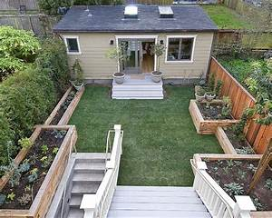 Simple backyard landscaping ideas on a budget with garden for Landscape ideas for small backyard with small shed