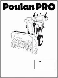 Poulan Snow Blower 96192003001 User Guide