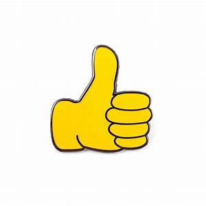 Thumbs Up Emoji Pin - Valley Cruise Press
