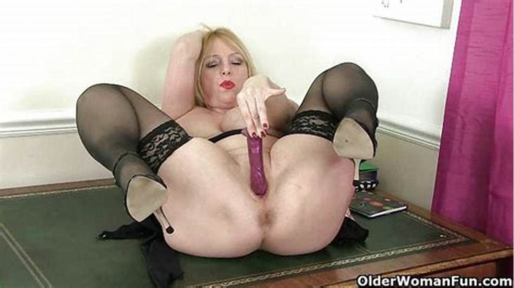 #British #Milf #Red #Works #Her #Sweet #Matured #Pussy