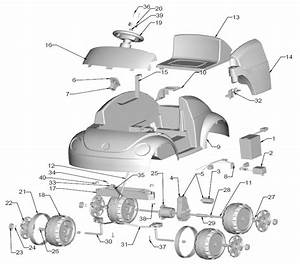 Power Wheels Hot Wheels Vw Beetle