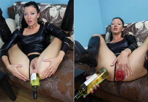 Charming Hotkinkyjo Deepthroat Destruction With Wine Bottle