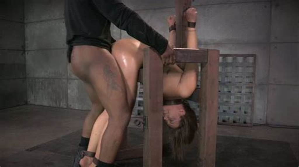 #Restrained #Oiled #Cutie #Maddy #Oreilly #Got #Doggy #Fucked #By
