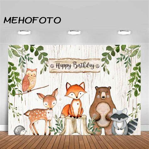 Woodland Backdrop Animals Fox Baby Shower Decoration