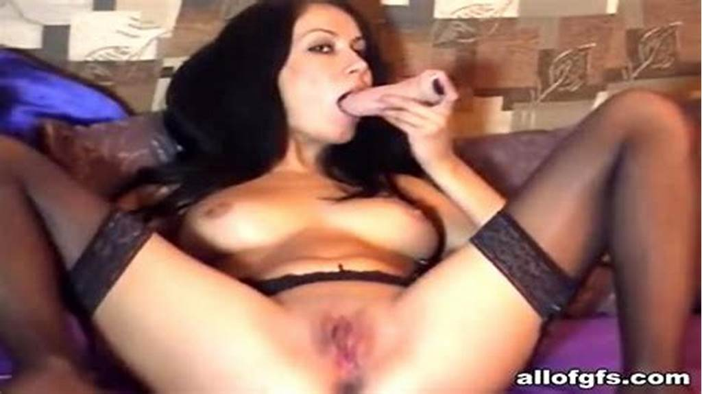 #Ex #Busty #Gf #Drills #Her #Shaven #Twat #With #A #Dildo