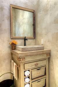 fabriquer un meuble de salle de bain a partir de recup With meuble salle de bain en pierre