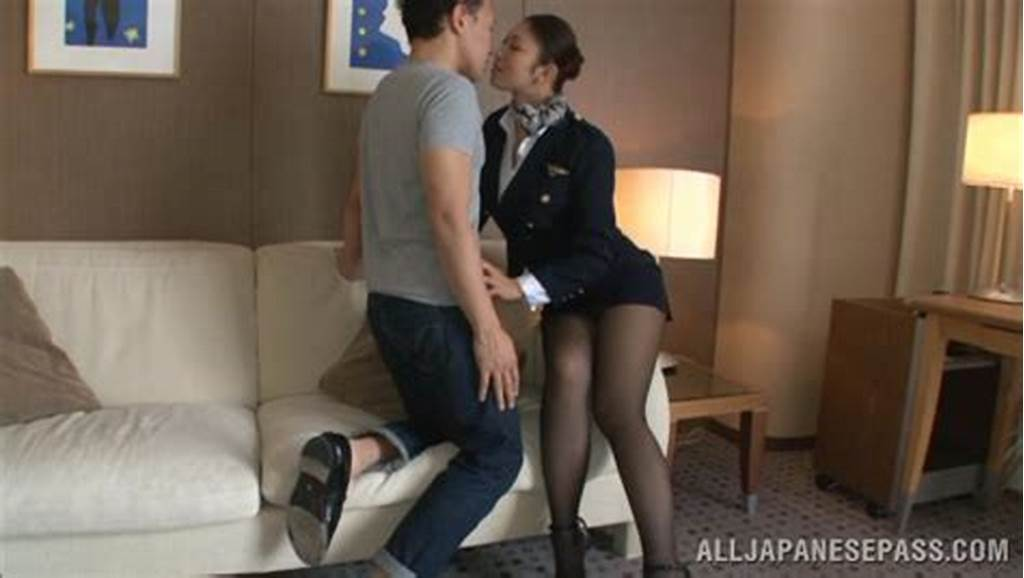 #Hot #Stewardess #Is #An #Asian #Doll #In #High #Heels
