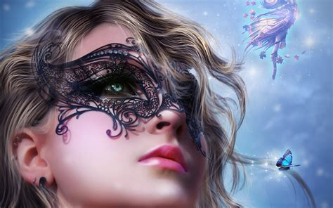 woman art tablet fantasy wallpapers girl colourful
