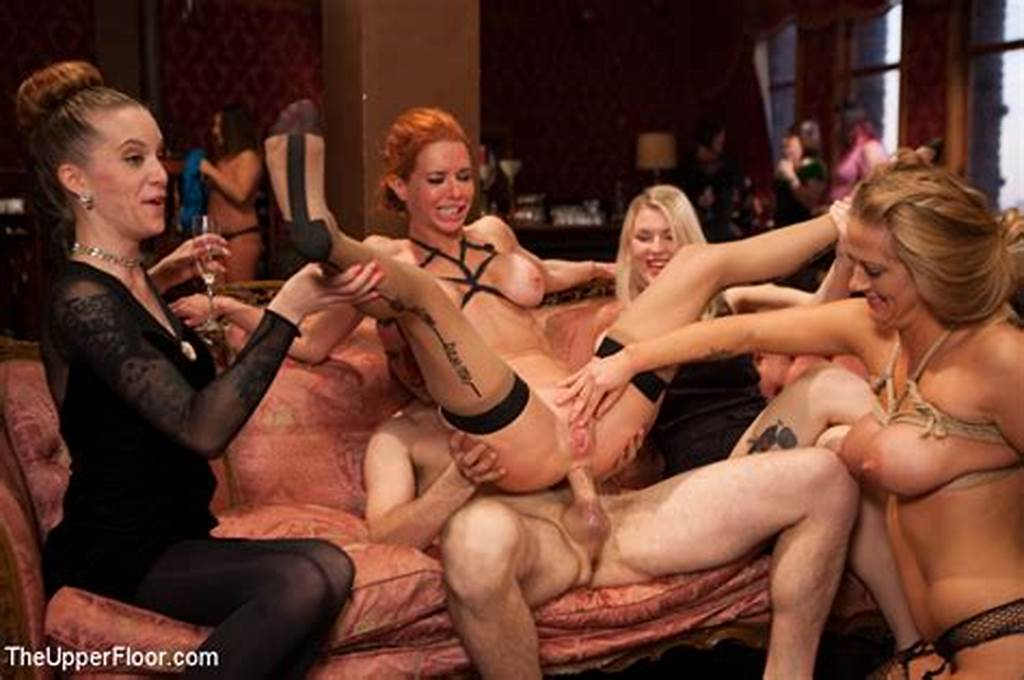 #Destroyed #Guests #Spunky #Gangbang #In #Foursome #House