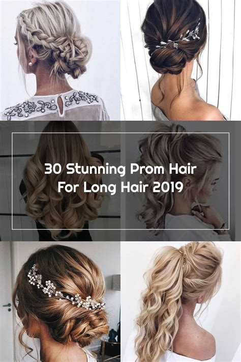 30 Stunning Prom Hair For Long Hair 2019 Prom hair