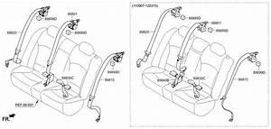 2012 Hyundai Sonata Hybrid Rear Seat Belt