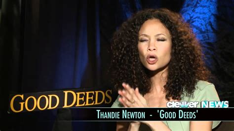 Thandie newton goes to the dark side in the new directtv series rogue trying to solve the mystery of her son's death. Thandie Newton Interview - Good Deeds - YouTube