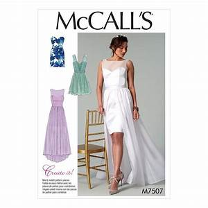Mccall s sewing pattern misses wedding prom evening for Patron de robe de mariée