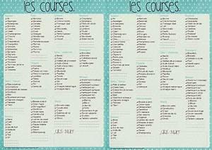 Liste De Courses À Imprimer Gratuitement : menu de la semaine vierge planning hebdo de repas ~ Nature-et-papiers.com Idées de Décoration