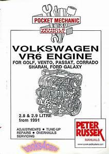 Volkswagen Vr6 Engine Shop Manual Service Repair Book