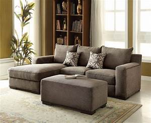 Alano gray chenille sectional sofa with left chaise and for Gray sectional sofa with nailhead trim