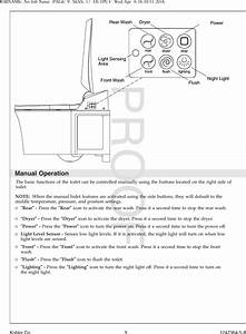 Kohler Kohler018 Veil Intelligent Toilet User Manual No