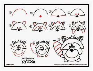 How to draw a raccoon- guided drawing | Guided Drawing ...