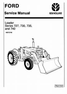 Ford 727  730  735 And 740 Loader Service Manual