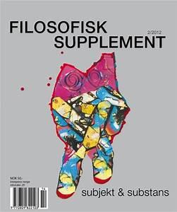 Filosofisk Supplement Abonnement  U2013 Abonnere P U00e5 Filosofisk Supplement Til Kampanjepris