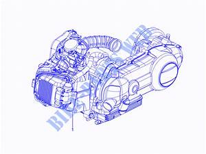 Engine  Assembly For Piaggio Typhoon 4t 2v E3 2011