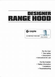 Caple Fgc900ss Um Instruction Manual