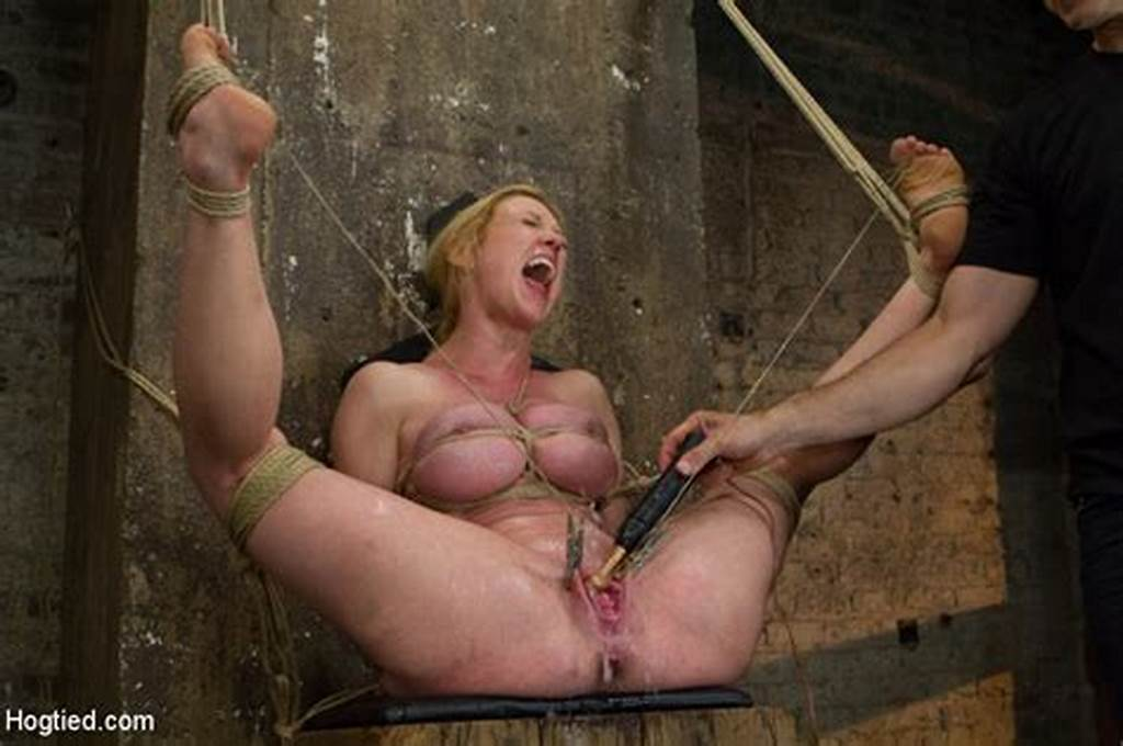 #Big #Boobs #Blonde #Roped #Nude #Pegged #In #Cunt