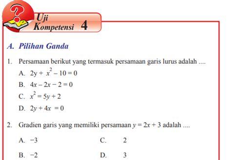 Pilihlah jawaban yang paling tepat! Uji Kompetensi 4 Matematika Kelas 8 Hal 181 | Revisi Id