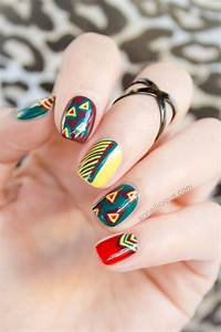 Tribal Nails With OPI Brazil