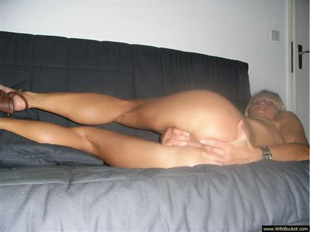 #Blonde #Wife #On #Couch