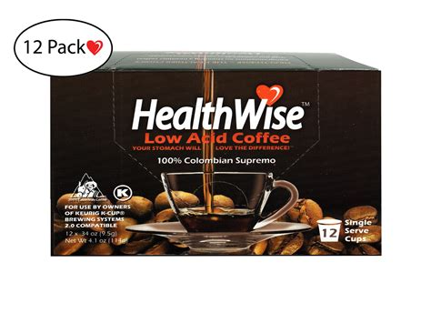 Check out our list of the best low acid coffee brands that both you and your tummy can enjoy each morning! HealthWise Low Acid Coffee K-Cups, 144 count (12 x 12 Cups ...