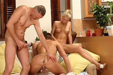 Mfm Wife Having A Bisexual Swinger Homemade Lesbian