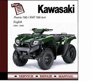 Kawasaki Prairie 700    Kvf700 4x4 Workshop Service Manual
