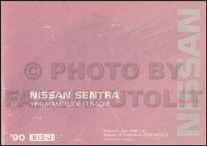 1990 Nissan Sentra Owner U0026 39 S Manual Original