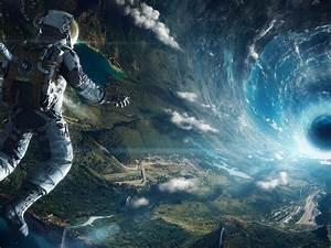 Astronaut black hole art – Wallpaperfool