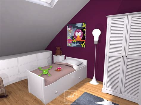 photo de chambre fille beautiful idee chambre bebe mansardee 2 photos design