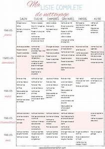 Liste De Courses À Imprimer Gratuitement : ma liste compl te de de nettoyage a imprimer ~ Nature-et-papiers.com Idées de Décoration