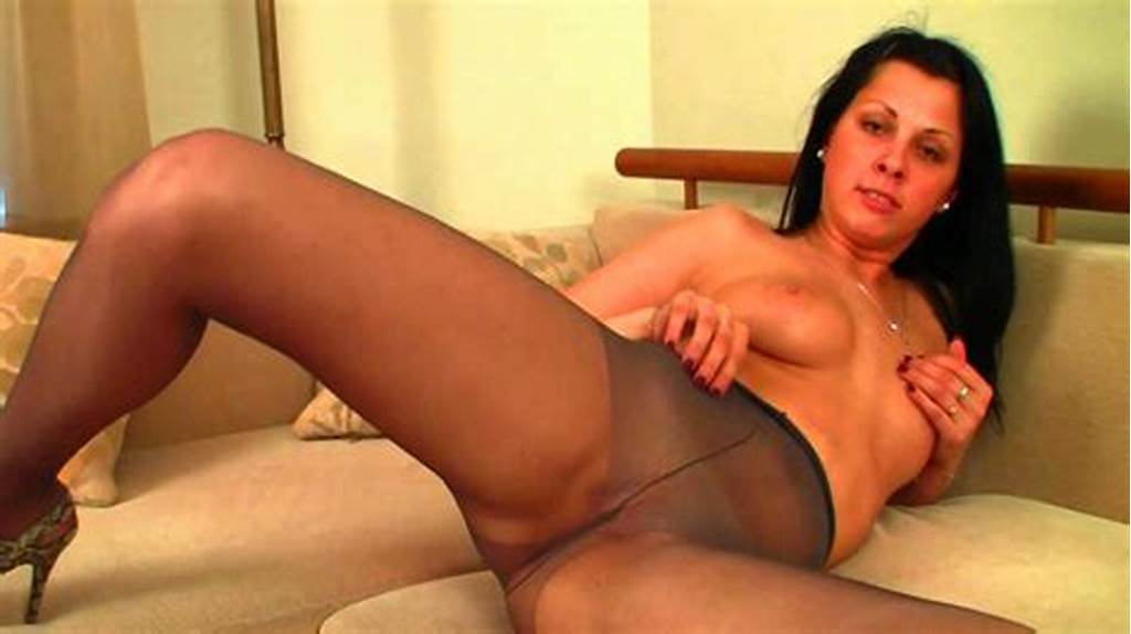 #Brunette #In #Sexy #Stockings #Likes #To #Play