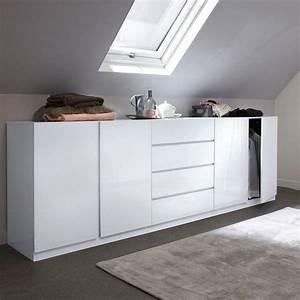 Armoire Basse Chambre : armoire 2 portes l o sp cial soupente la redoute ~ Melissatoandfro.com Idées de Décoration