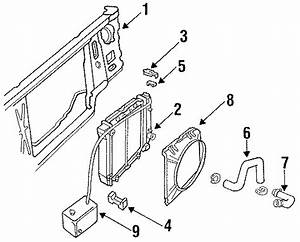 Ford Ranger Radiator Assembly Bracket  Radiator Support